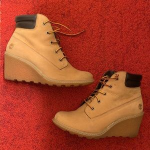 Timberland wedge boots 7